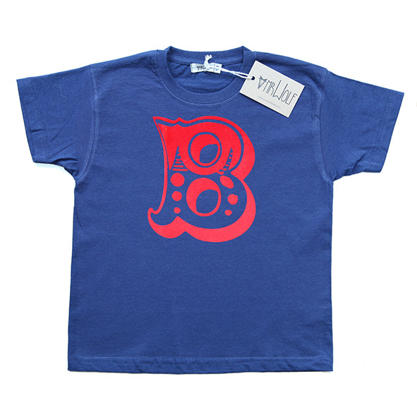 Circus Letter T-Shirt - Navy