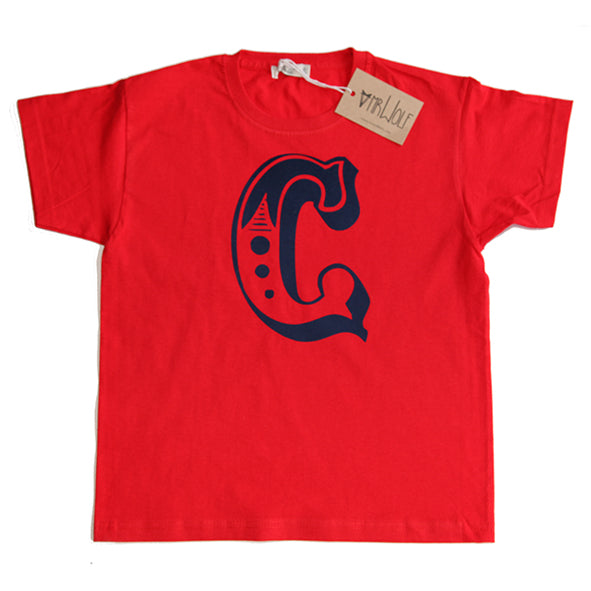 Circus Letter T-Shirt - Red