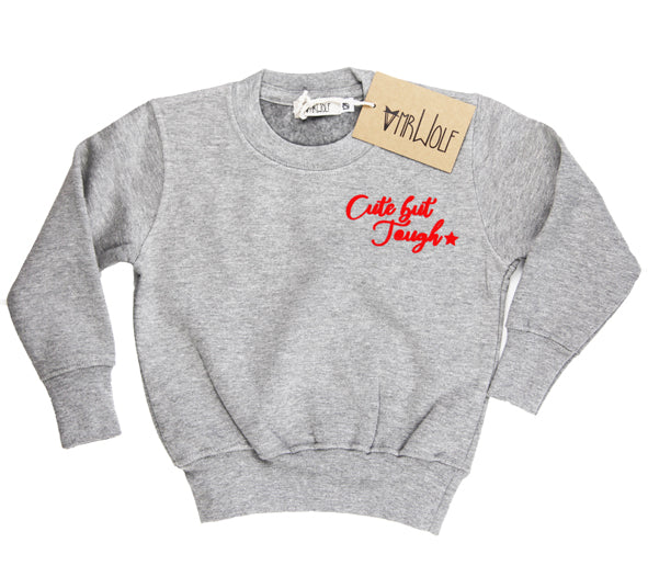 Sweatshirt Grey Marl - Cute but Tough