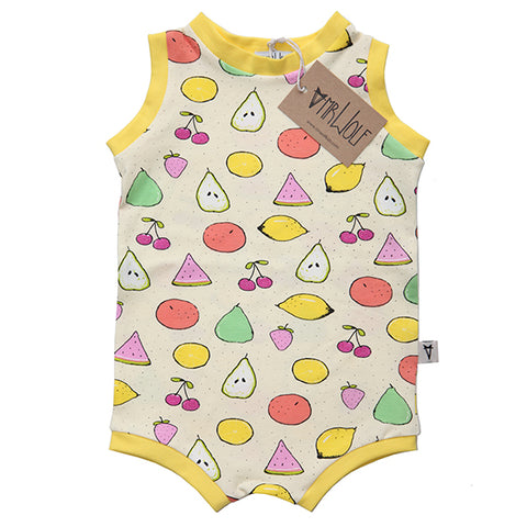 Pull On Shortie Romper - Fruit