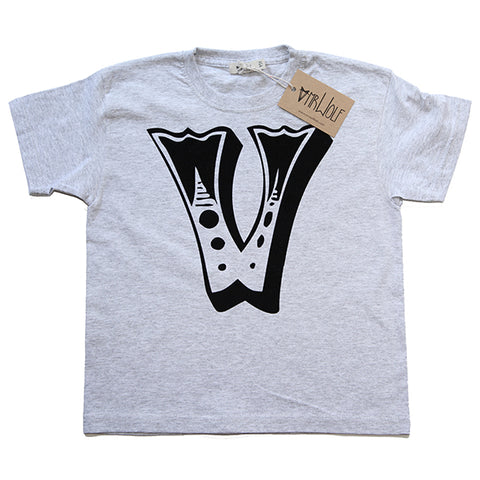 Circus Letter T-Shirt - Grey Marl