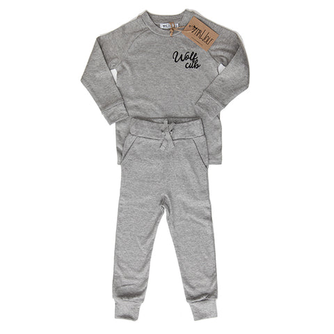 Lounge Set - Grey Marl - Wolf Cub