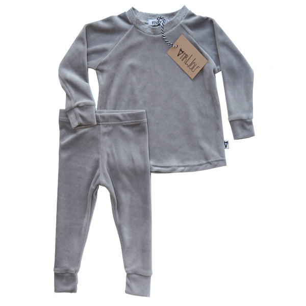Lounge Set - Grey Velour