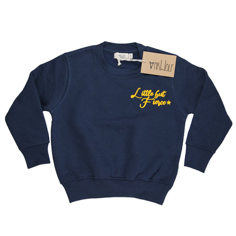 Sweatshirt Navy - Little but Fierce