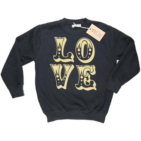 Sweatshirt Black - Love