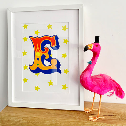 Circus Print - Primary A-Z