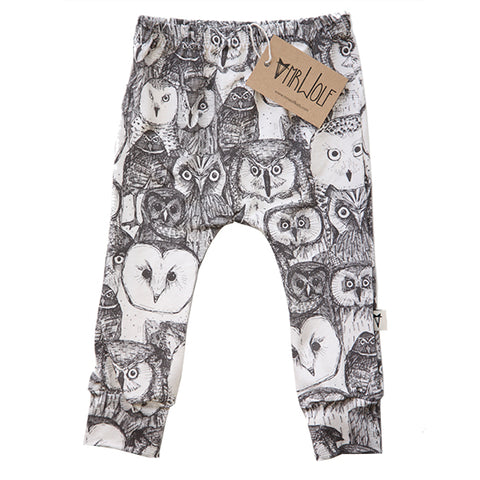 Baby Legging - Sketch Owls