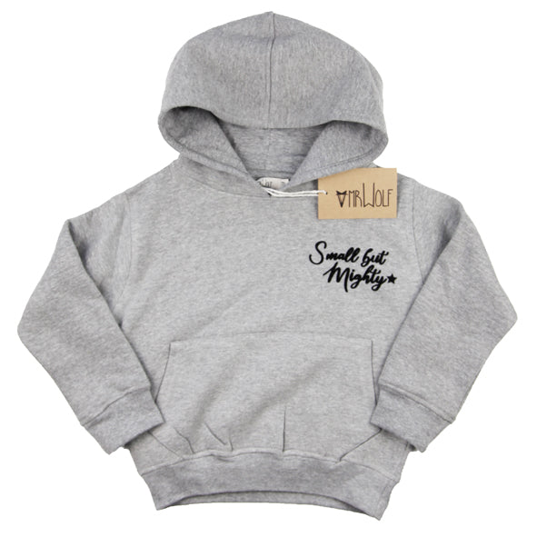 Hoody Grey Marl - Small but Mighty