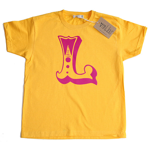 Circus Letter T-Shirt - Yellow