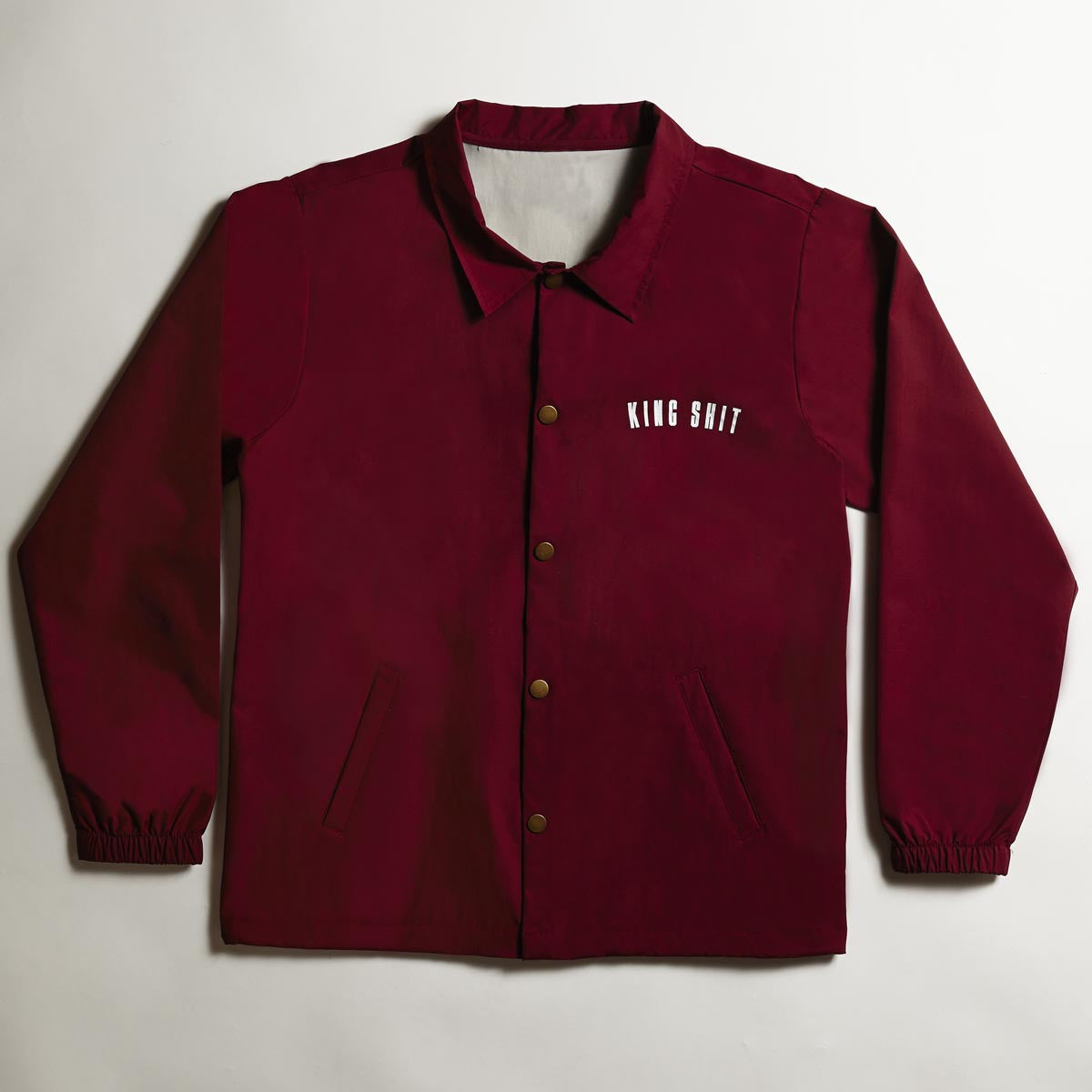 Varsity Coach's Jacket - Burgundy