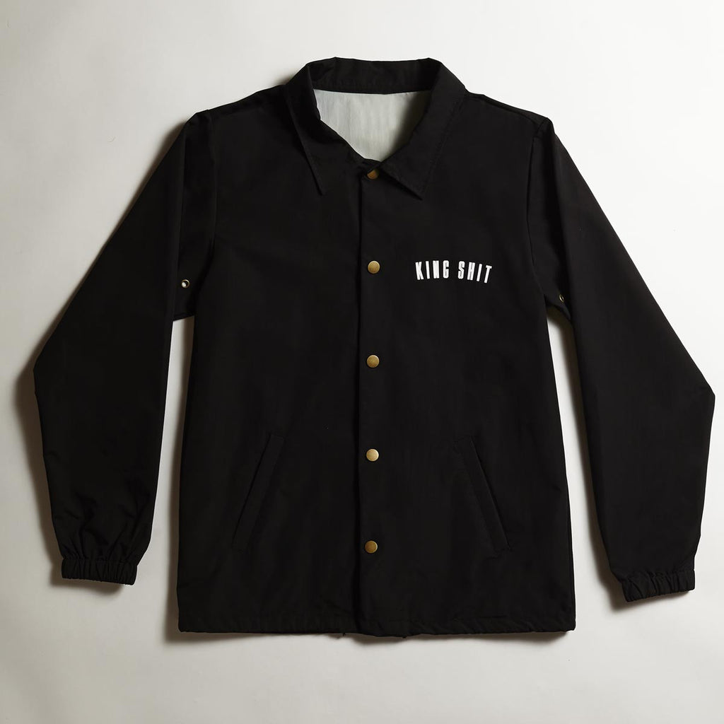 Varsity Coach's Jacket - Black