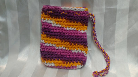 Soap Cozy - Burgundy/Fuschia/White/Orange