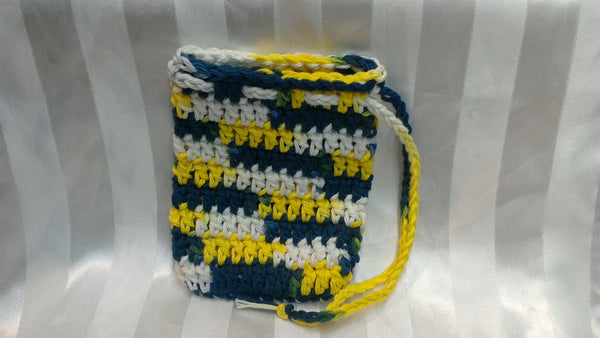 Soap Cozy - Navy/Yellow/White