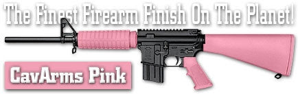 CavArms Pink. Shake N Spray DuraCoat finishing KIT.