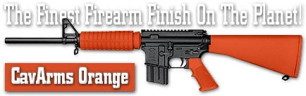 CavArms Orange. Shake N Spray DuraCoat finishing KIT.