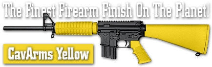 CavArms Yellow. Shake N Spray DuraCoat finishing KIT.