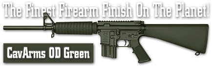 CavArms OD Green. Shake N Spray DuraCoat finishing KIT.