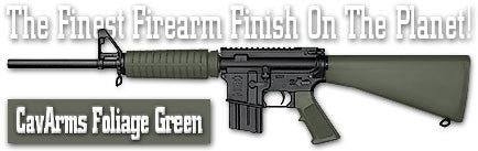 CavArms Foliage Green. Shake N Spray DuraCoat finishing KIT.