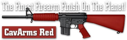 CavArms Red. Shake N Spray DuraCoat finishing KIT.