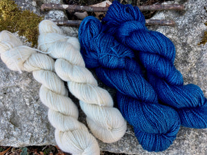 Finn Yarn - Indigo Dyed and Natural (worsted)