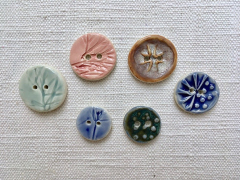 Ceramic Buttons by Betka Pottery