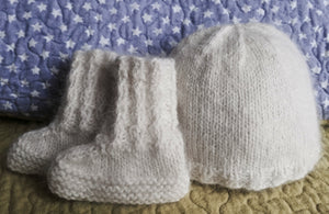 Beech Hill Baby Booties and Cap