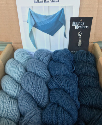 Belfast Bay Shawl Kit