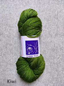 Caper Sock by String Theory (fingering)