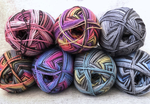 group of Berroco Sox sock yarn