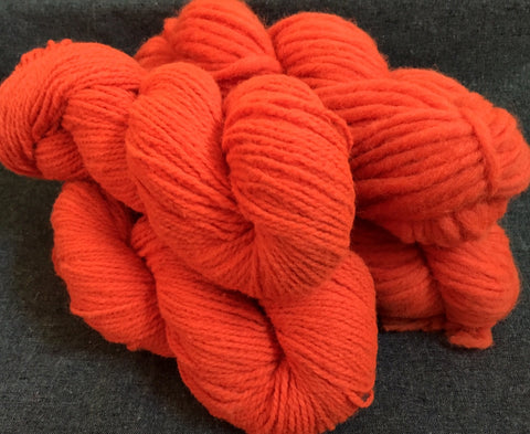 Blaze Orange Wool Yarn by Bartlettyarns