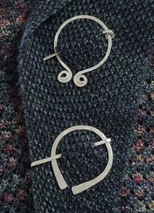 Hand Hammered Silver Shawl Pins