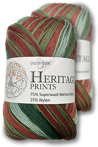 Heritage Prints by Cascade (sock/fingering)