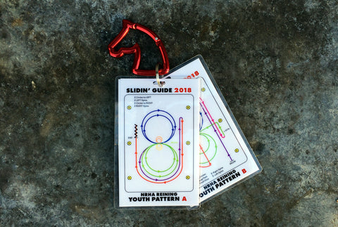 Slidin' Guide NRHA Youth Set Reining Pattern Cards A & B