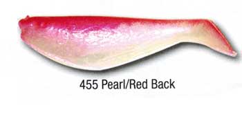 "Luckie Strike Shad Minnow MC 4"" 10ct Pearl-Red Back"