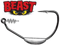 Owner Hook Weighted Beast Size 8-0-3-8 3ct