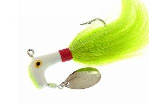 BayShore Tackle and Outfitters:Blakemore Road Runner Bucktail 1-2oz 4-0 Chart-White-Red-Chart,Blakemore