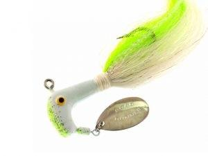 BayShore Tackle and Outfitters:Blakemore Road Runner Bucktail 1-2oz 4-0 Chart-White-Chart-White,Blakemore
