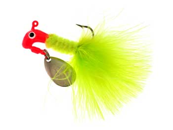 BayShore Tackle and Outfitters:Blakemore Road Runner Maribou 1-16 Red-Chartreuse 2pk,Blakemore