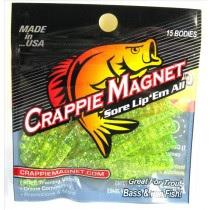 "Leland Crappie Magnet 1.5"" 15ct Chartreuse-Silver Flake"