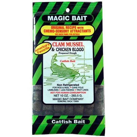 Magic Bait Clam Mussel-Chicken Blood Bait 10oz