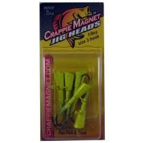 BayShore Tackle and Outfitters:Leland Crappie Magnet Replacement Heads 5ct 1-8oz Chartreuse,Crappie Magnet Baits