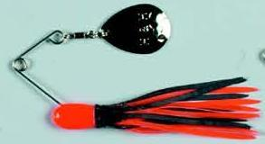 BayShore Tackle and Outfitters:H&H Double Spinner 3-8 (6cd) Orange-Black-Orange,H & H Baits