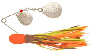 BayShore Tackle and Outfitters:H&H Double Spinner 3-8 (6cd) Brown-Chart-Orange,H & H Baits