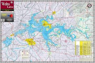 BayShore Tackle and Outfitters:Kingfisher Lake Map Weiss,Burch Fishing Tackle