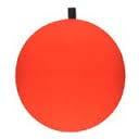 "BayShore Tackle and Outfitters:Comal Round Foam Float w-peg 0.50"" 25bag Red,Comal Floats"