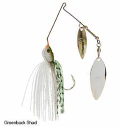 Z-Man Power Finesse Slingbladez Spinnerbait 3-8 Wil-Wil Greenback Shad