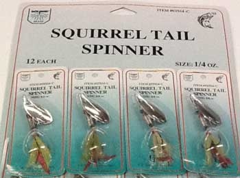 FJ Neil Squirrel Tail Spinners 1-4 Chartreuse