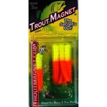 BayShore Tackle and Outfitters:Leland Trout Magnet 1-64oz 9ct Opaque Chartreuse,Trout Magnet Baits