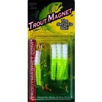 BayShore Tackle and Outfitters:Leland Trout Magnet 1-64oz 9ct White-Chartreuse,Trout Magnet Baits