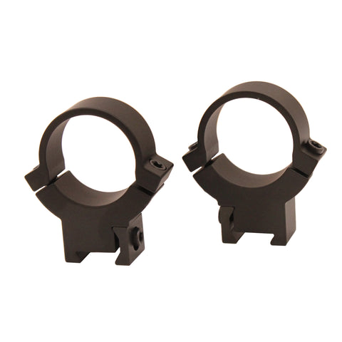 ".22 Caliber Rings - 1"", High Height, Rimfire, Matte Black"